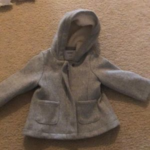 Baby Girl Gray Winter Coat